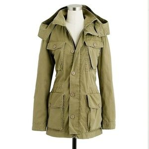 J.CREW Jackets & Coats - J. CREW Boyfriend Fatigue Green Utility Jacket
